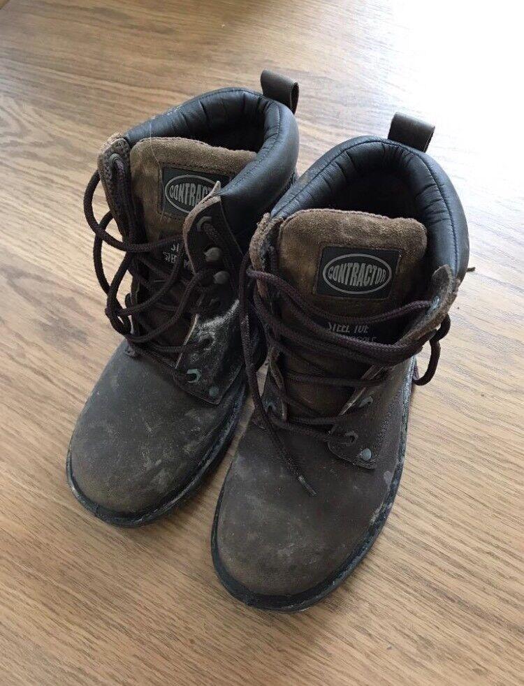 Men's Contractor Steel Toe Capped Boots