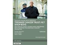 PET SHOP BOYS LIVE ROYAL ALBERT HALL 02/04/2017 TEENAGE CANCER TRUST