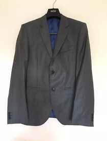 Grey M&S 38R Slim Fit Limited Collection Suit with 32/31 Trousers