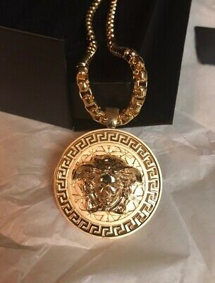 100% Authentic Versace Medusa Gold Chain Necklace