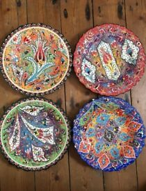 Handpainted Plates & Side Plates