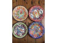 Handpainted Plates & Side Plates