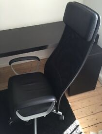 Chair, Ikea Markus, black swivel office chair