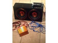 Subwoofer, Amp and 12v capacitor
