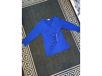 Size 14 royal blue top worn once