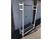 Ikea Tjusig White Clothes Hanger/Shoe Rack