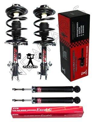 Front Struts w/ Coil Springs FCS & Rear KYB Shocks Kit for Infiniti FX35 FX45