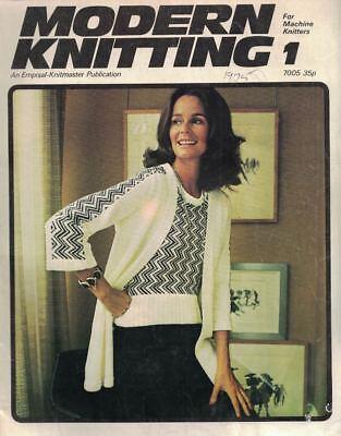 Modern Knitting #1 1975 Machine Knitting Patterns UK Magazine Vintage Hip Boho