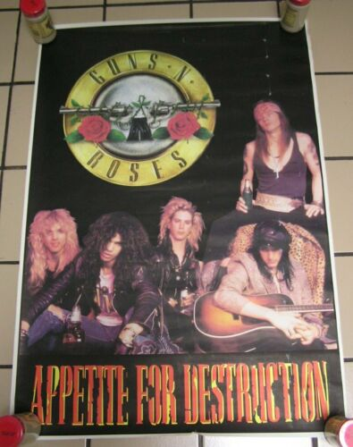 "Rare Guns n Roses ""Appetite For Destruction"" Band Poster"