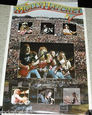 MOLLY HATCHET1980 FULL SIZE Poster ORIGINAL NOT A REMAKE Vintage Music Rock 80's