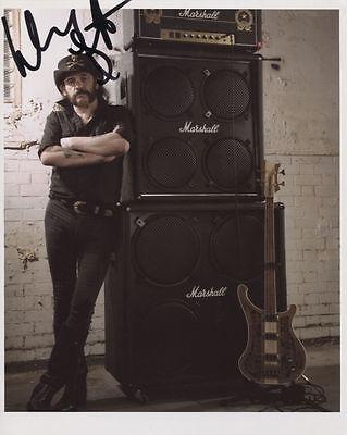 Lemmy (Motorhead) Signed 8 x 10 Photo Genuine In Person