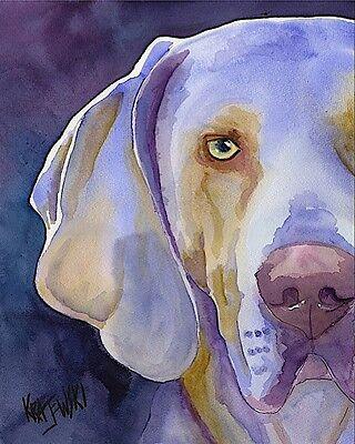 Weimaraner Dog 11x14 signed art PRINT RJK painting  -