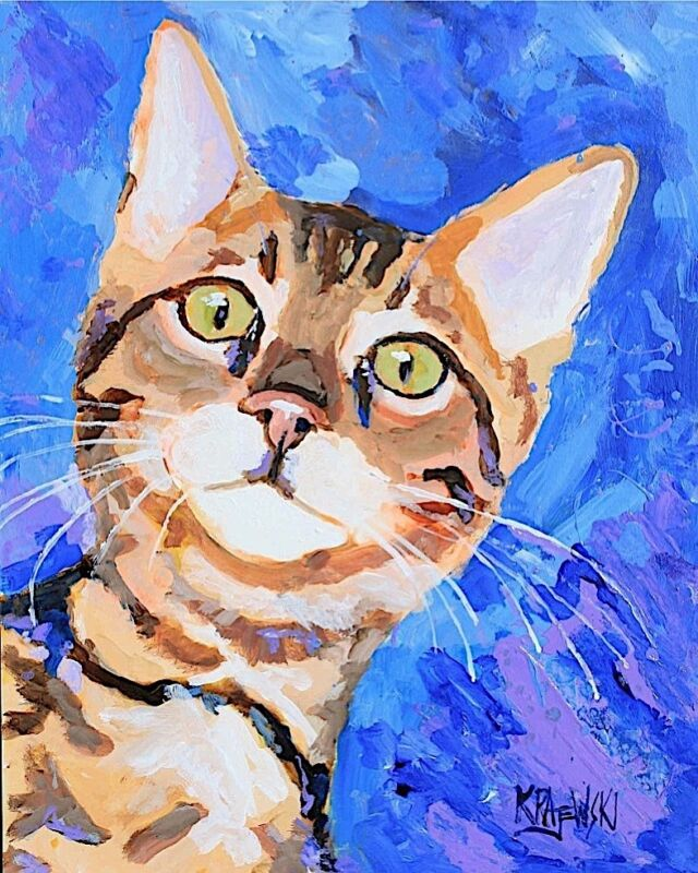 Bengal Cat 11x14 signed art PRINT painting RJK
