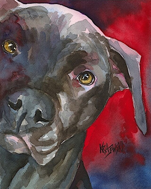 Pit Bull Gifts | Pitbull Art Print from Painting, Poster, Picture, Decor 11x14