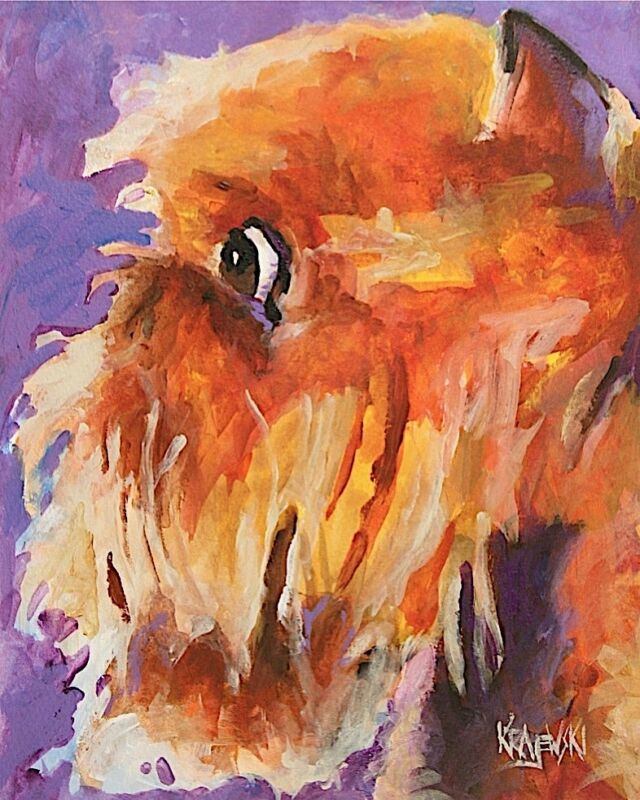 Brussels Griffon Dog 8x10 Art Print Signed by Artist Ron Krajewski