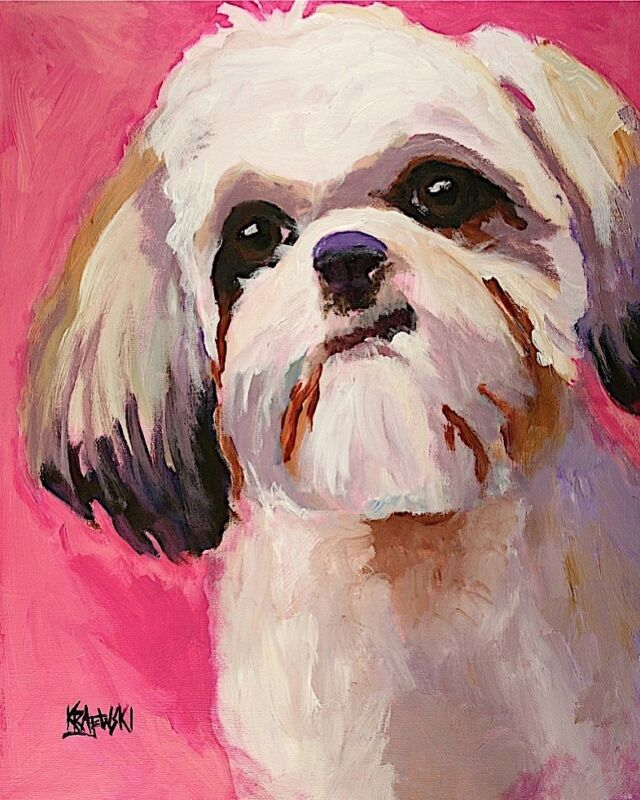 Shih Tzu Tsu Art Print from Painting | Gifts, Poster, Picture, Mom, Dad 8x10