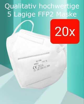FFP2 ffp2 20 Stück Masken für nur 8,99 €