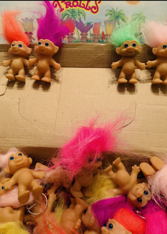 Troll dolls lot Vintage (5 Dolls)