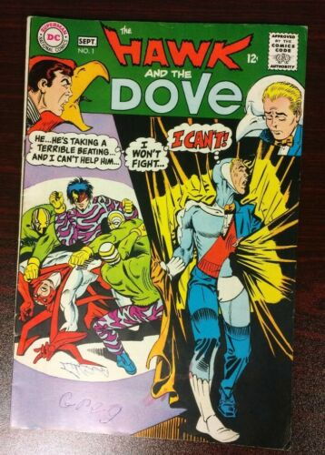 HAWK AND DOVE 1 (1968 DC COMICS) DITKO ART, 2ND APP OF HAWK AND DOVE (FN,FINE)