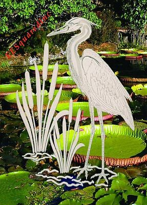 Egret Right Window Decal for Glass 15x23 OVAL Static Cling Tropical Bird Decor R