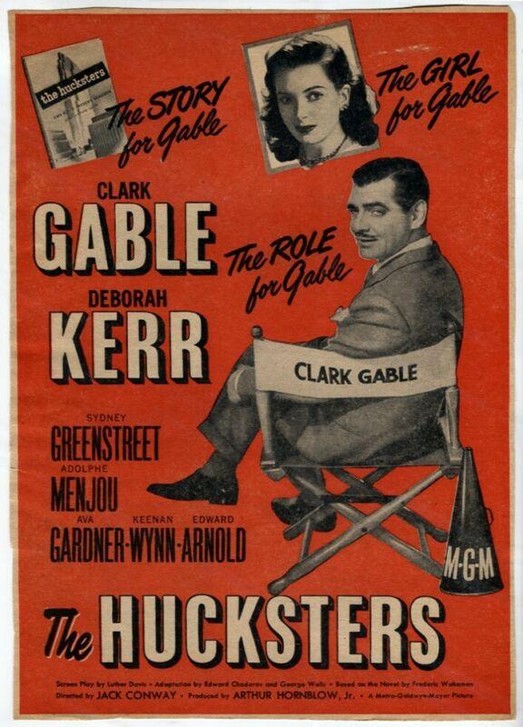 Vintage The Hucksters 1947 Clark Gable Deborah Kerr Movie Magazine AD