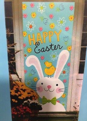 Happy Easter Bunny Door Cover Decoration Wreath Swag Pick Chocolate Rabbit Sign Happy Easter Door Cover