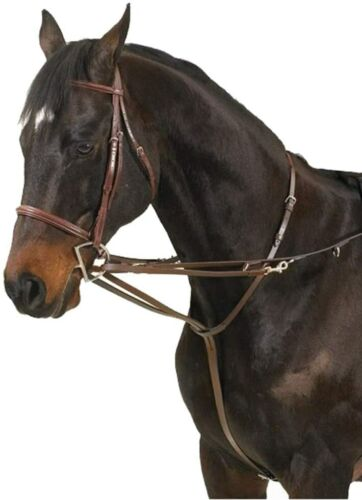 Camelot German Martingale Rein - Brown - One Size - #5103