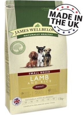 James Wellbeloved Lamb And Rice Adult Small Breed 1.5kg ( Complete Dog Food)