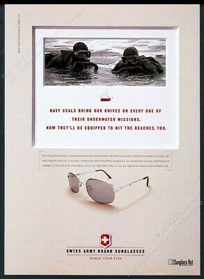 1997 US Navy Seals photo Swiss Army knife sunglasses vintage print (Navy Seal Sunglasses)