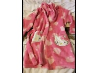 Hello kitty dressing gown aged 4-5