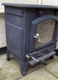 Black wood-burning stove - log burner