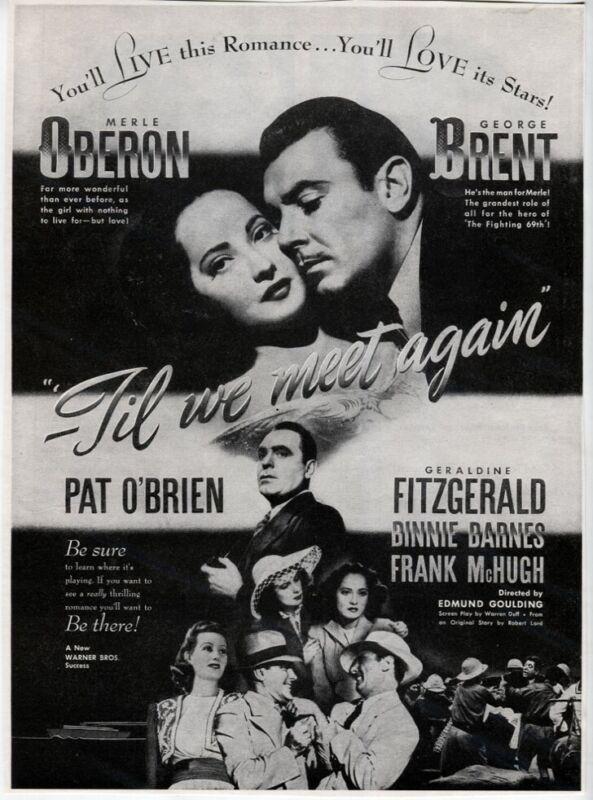VTG Til We Meet Again 1940 Merle Oberon George Brent Pat O