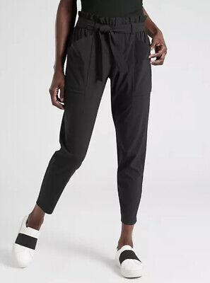 Athleta Skyline Pant Black Size 4P Lightweight Travel Work Pants