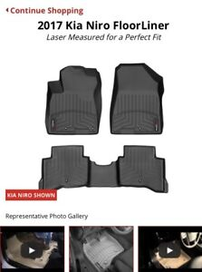 Kia Niro weather tech Matt's floor liner  fronts and backs