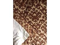 Heavy Brown & Beige Curtains
