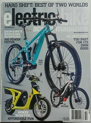 Electric Bike Magazine Oct 2017 Haro Shift Best of Two Worlds FREE SHIPPING sb