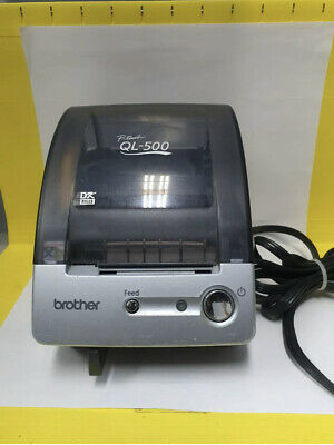 Brother P-touch Ql-500 Label Printer With Power Cord Pre Own Used Tested