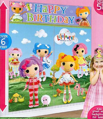 LALALOOPSY Scene Setter HAPPY BIRTHDAY party wall decoration kit over - Lalaloopsy Birthday Party