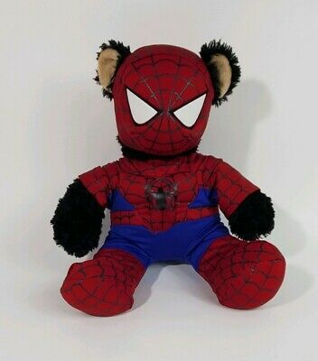 Build a bear spider sense spider man black bear outfit and mask (Masquerade Masks And Outfits)