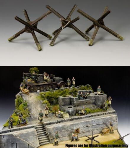 KING & COUNTRY WW2 GERMAN ARMY WH030 THREE BEACH OBSTACLES MIB
