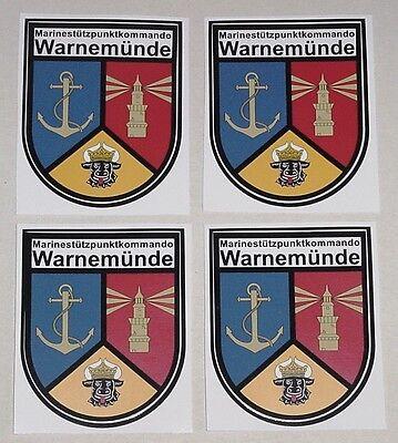 Marine Aufkleber 4 Stück Marinestützpunktkommando Warnemünde ............AU004