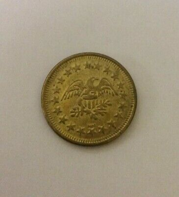 VTG AMERICAN EAGLE STARS GOLD/BRASS ARCADE TOKEN COIN NO CASH VALUE HM MINT American Eagle Gold Coin Value