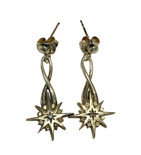 Keith Jack Sterling Silver & 10K Celtic Compass Star Earrings