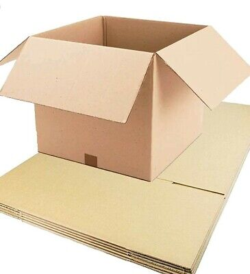 50 x STRONG DOUBLE WALL CARDBOARD BOXES - POSTAL REMOVAL MOVING - QUALITY