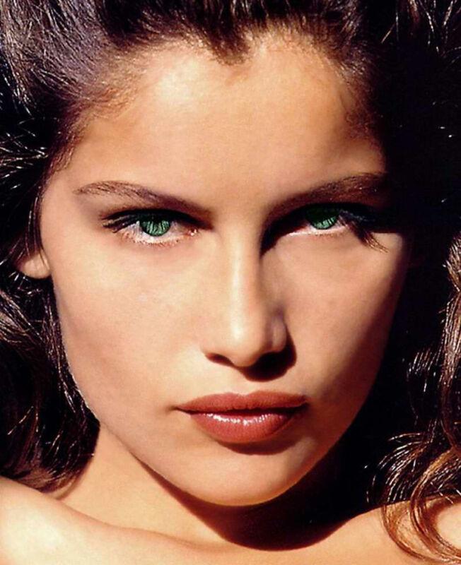 Laetitia Casta 8x10 Photo Engaging Eyes In Close Up Hot