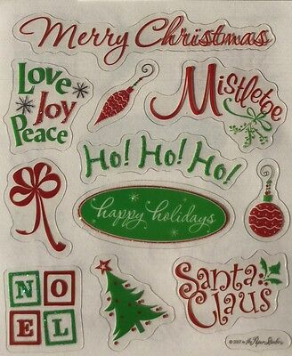 Christmas / Holiday /  Scrapbook Stickers - Christmas Scrapbook