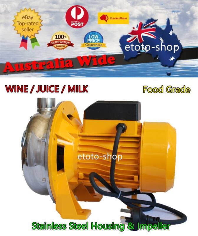 750W Stainless Steel Centrifugal Water Pump Food Grade 120L/min WINE JUICE  MILK
