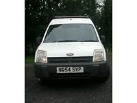 White Ford Transit Hi Top Connect