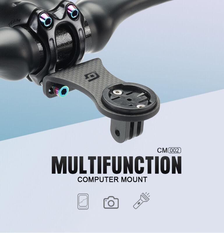 Carbon Road Bike Stem Extension Computer Mount Holder For GARMIN BRYTON Camera