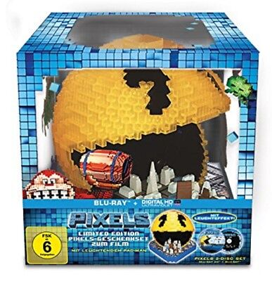 Pixels (Pacman Cityscape) 3D Blu-ray + 2D Limited Edition NEU OVP